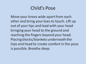 Benefits of Yoga Child's Pose