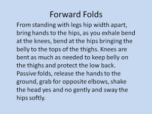 Benefits of Yoga Forward Folds