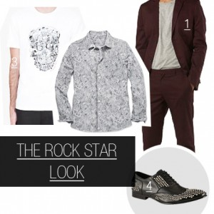 Rock inspired men's look for Memory Ball 2013